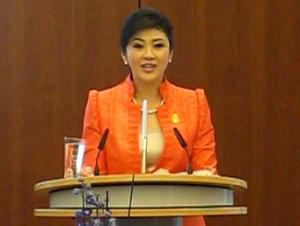Thai MP Yingluck Shinawatra in Berlin
