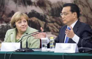 Merkel and Li Keqiang