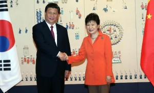 Xi Jinping and Park Geun-hye